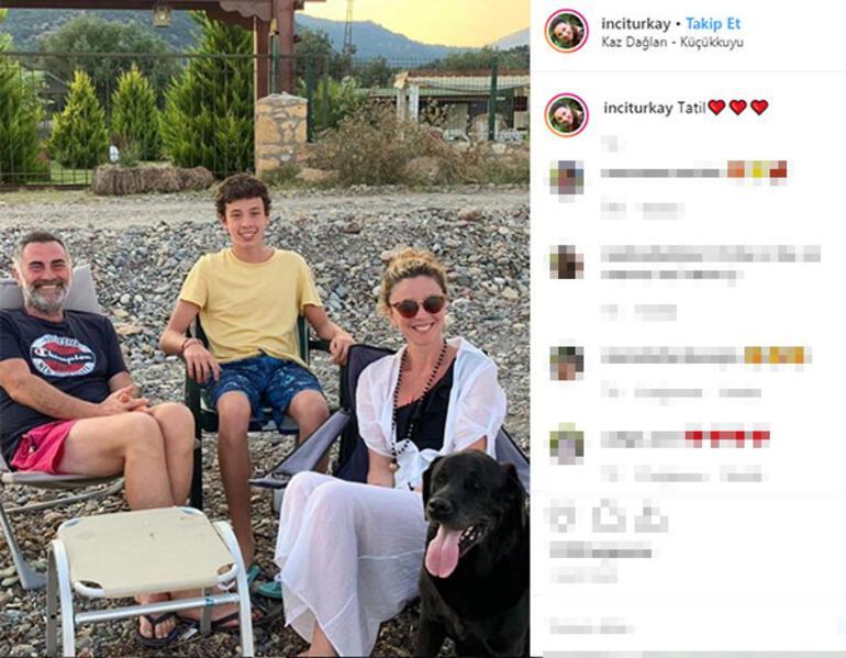 İnci Türkayın köyde aile tatili