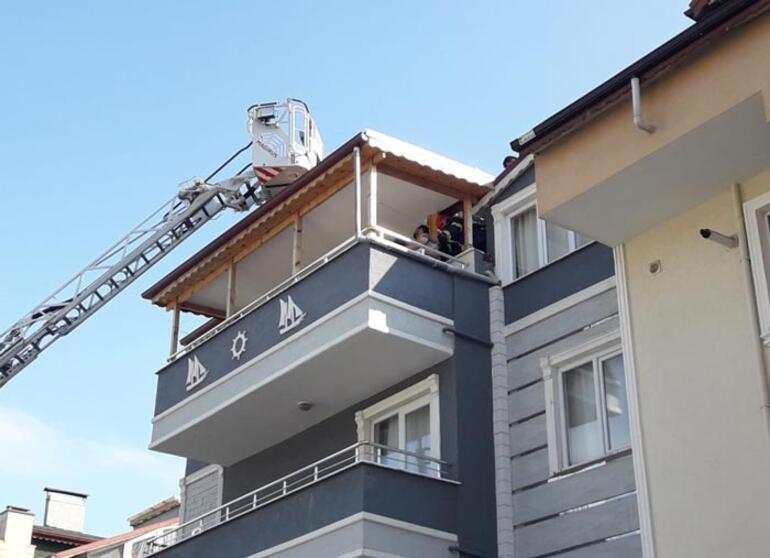İntihar etmek için çatıya çıktı heyecandan bayıldı