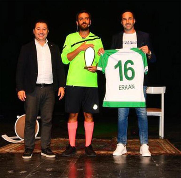 Erkan Kolçak Köstendil, oyununun gelirlerini Bursaspora bağışladı