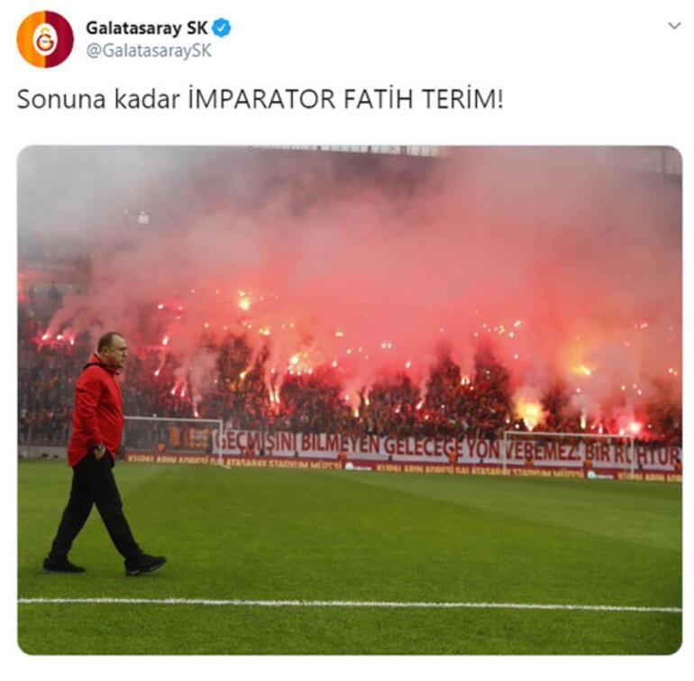 Galatasaraydan Fatih Terim paylaşımı
