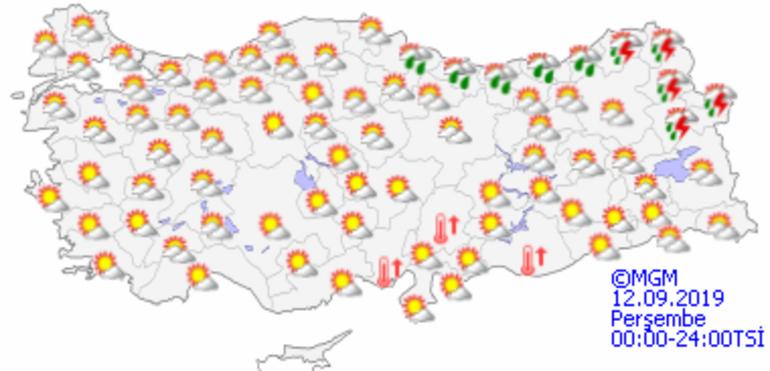 Hava durumu bugün nasıl olacak İstanbulda sıcaklık bugün kaç derece