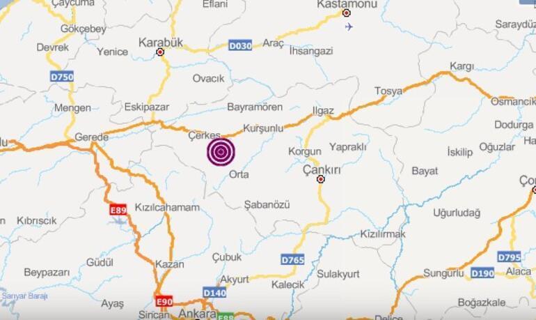 Son dakika... Çankırıda peş peşe iki şiddetli deprem Ankarada da hissedildi
