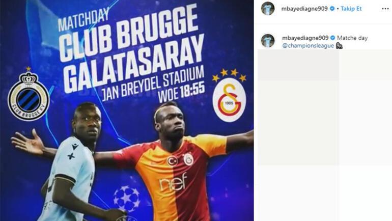 Club Brugge - G.Saray maçı öncesi Diagneden paylaşım