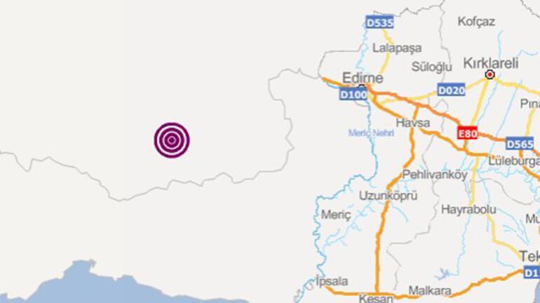 Komşuda korkutan deprem Büyüklüğü...