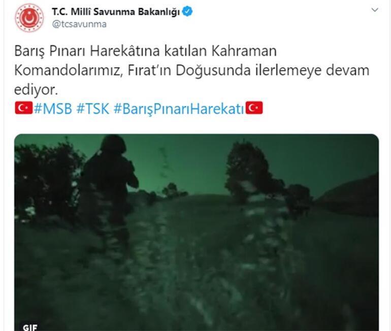 Milli Savunma Bakanlığı açıkladı: 181 hedef ateş altına alındı