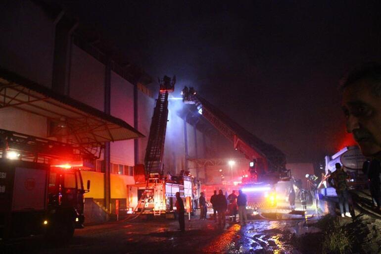 Fındık fabrikasında korkutan yangın