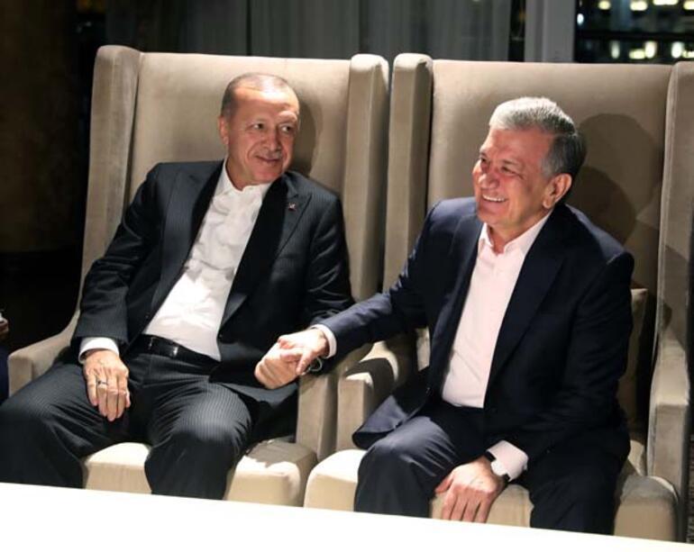 Cumhurbaşkanı Erdoğan, Aliyev tarafından verilen yemeğe katıldı