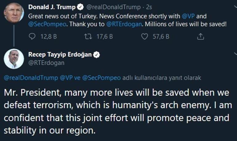 Son dakika   Cumhurbaşkanı Erdoğandan Trumpa cevap