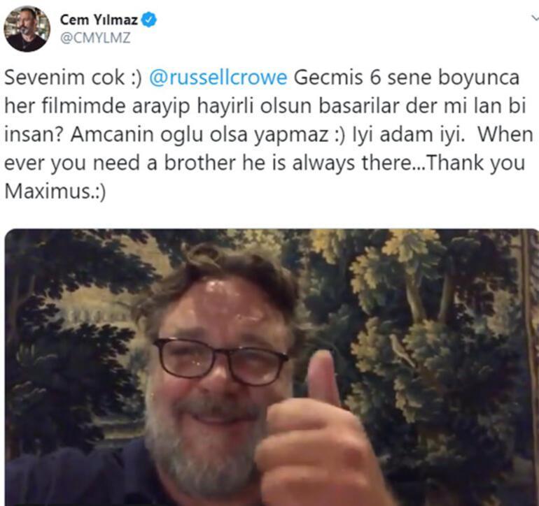 Russell Crowedan Cem Yılmaza tebrik