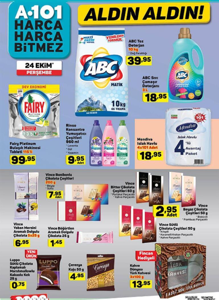 A101 aktüel ürünler kataloğu yayımlandı 24 Ekim A101 aktüel ürünler kataloğu