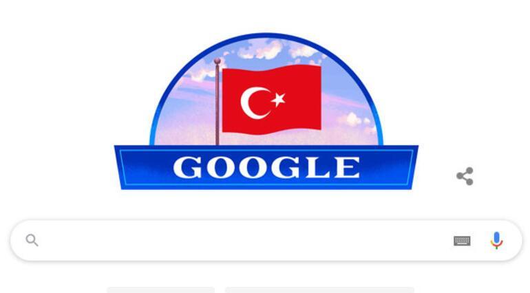 Cumhuriyet Bayramı Doodle oldu 29 Ekim Cumhuriyet Bayramı mesajları