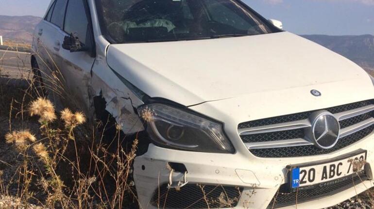 2 otomobil çarpıştı Karı koca yaralandı