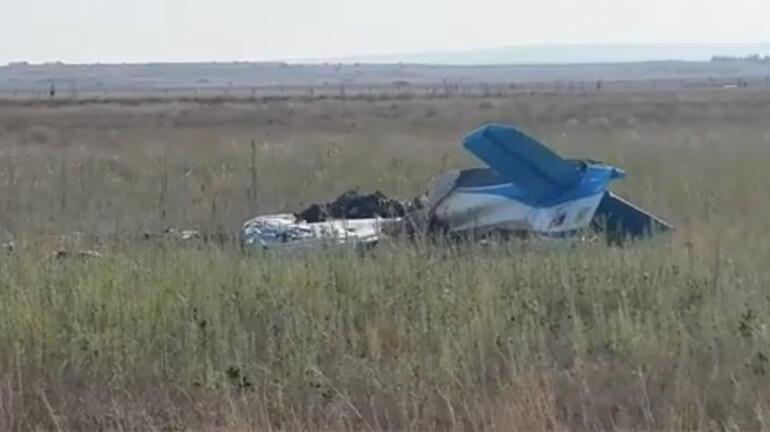 Son dakika KKTCde eğitim uçağı düştü