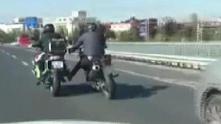 Motosiklet hırsızları yine kamerada
