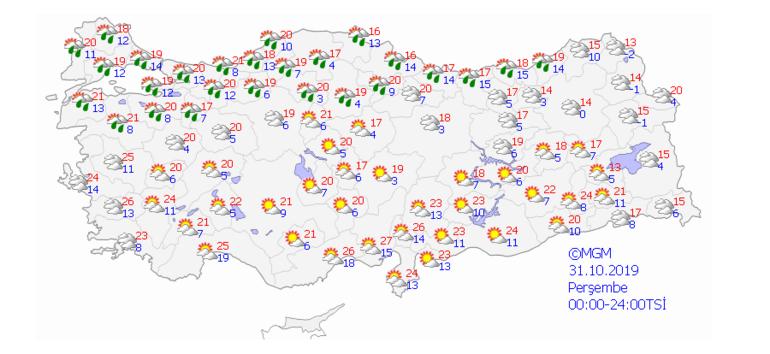 Yarın hava nasıl olacak Yağmur var mı (31 Ekim)
