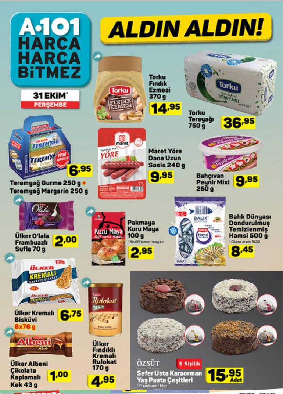A101 aktüel ürünler kataloğu 31 Ekim A101 indirimli ürünler listesi