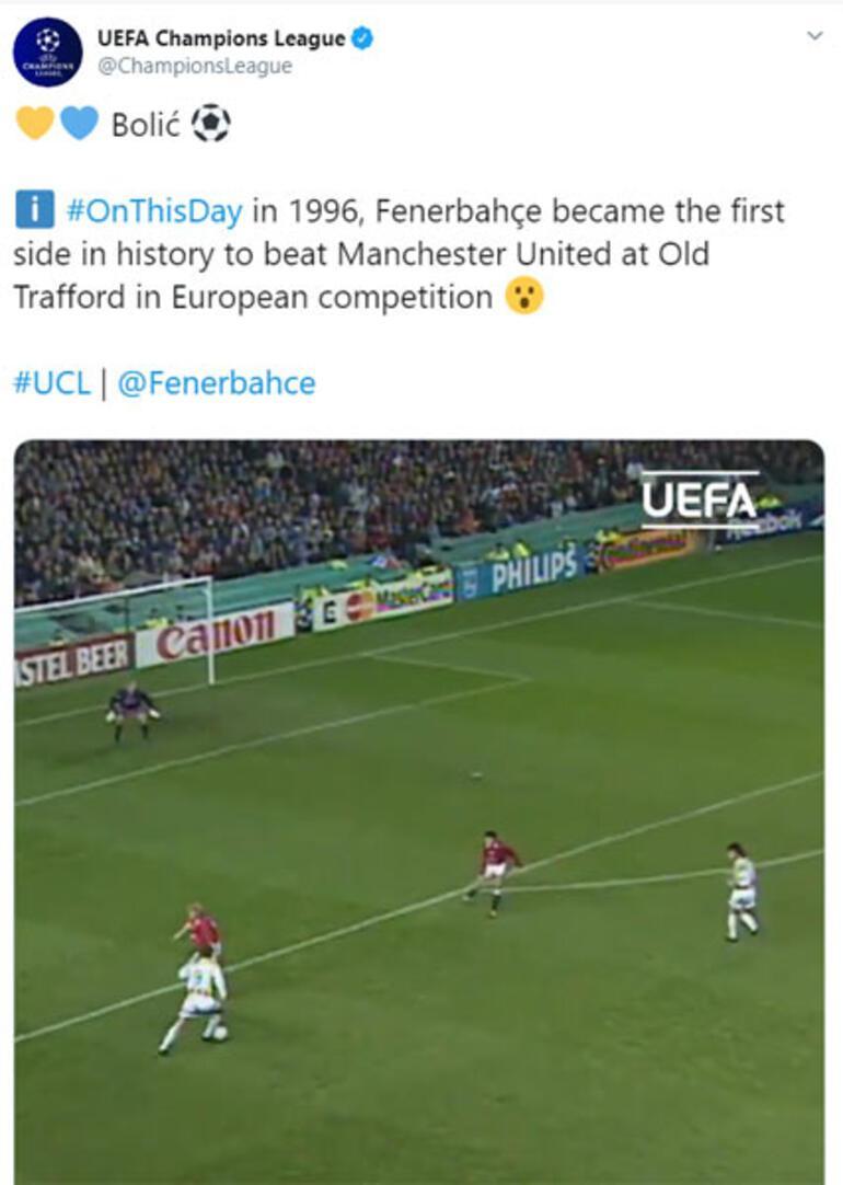 Şampiyonlar Liginden Fenerbahçe paylaşımı Bolic...