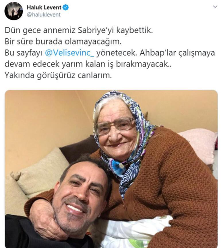 Haluk Leventin annesi Sabriye Acil vefat etti