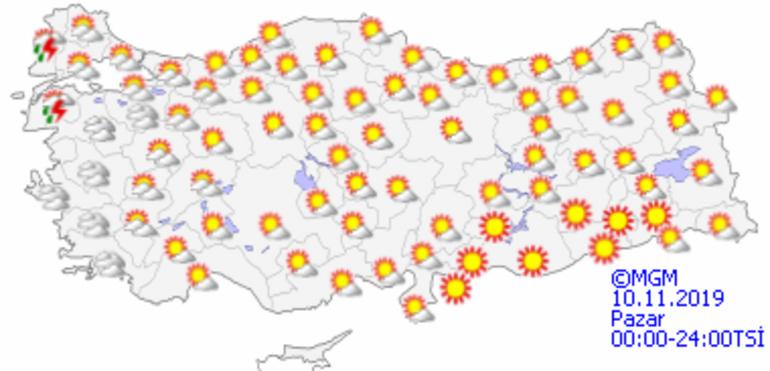 10 Kasım hava durumu   Hava durumu bugün nasıl olacak