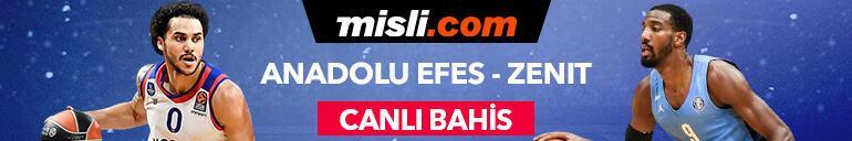 Anadolu Efes - Zenit maçı canlı bahis seçeneğiyle Misli.comda
