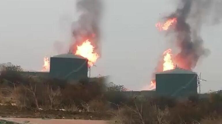 Süt fabrikasında büyük yangın