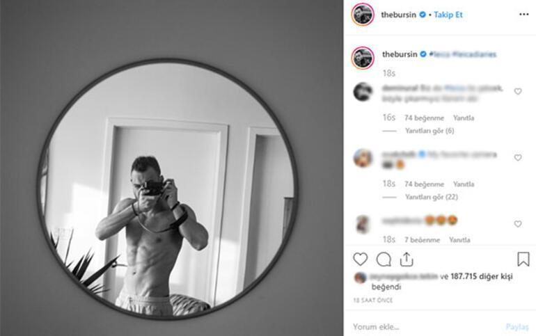Kerem Bürsinin ayna pozu sosyal medyayı salladı