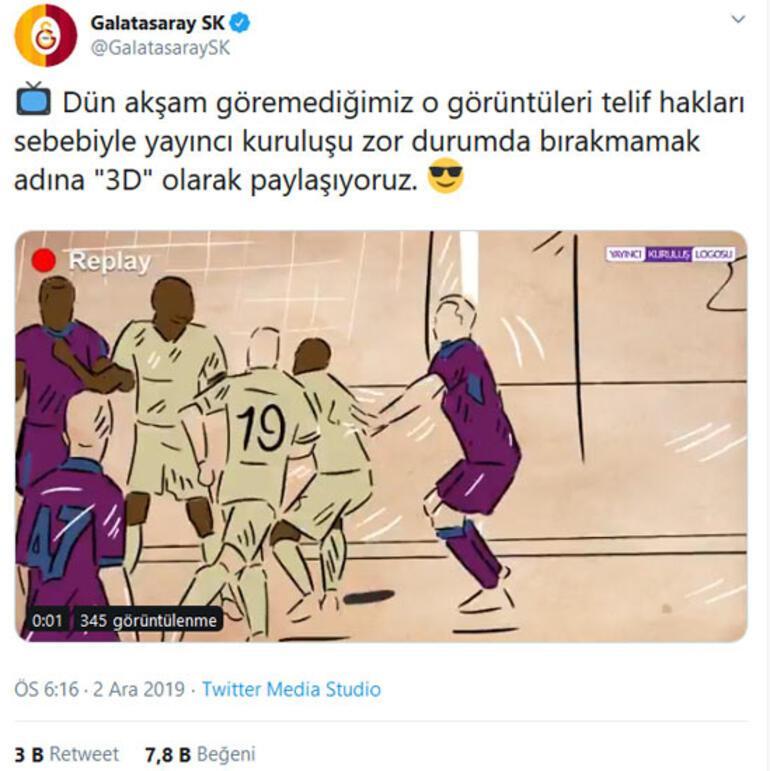 Galatasaraydan 3D paylaşım Sörloth...