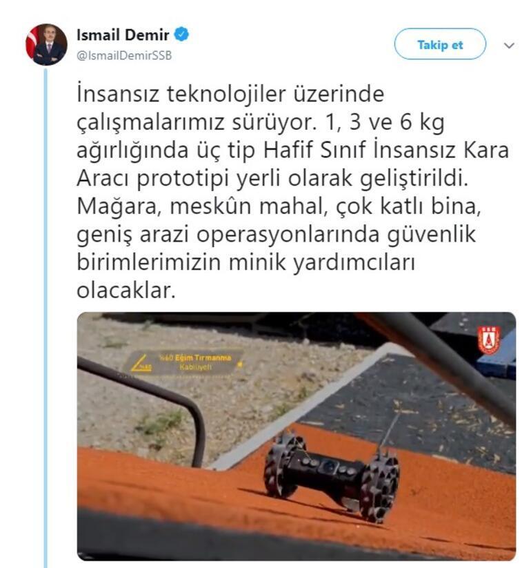 Görüntüleri paylaşıldı İşte insansız kara araçları