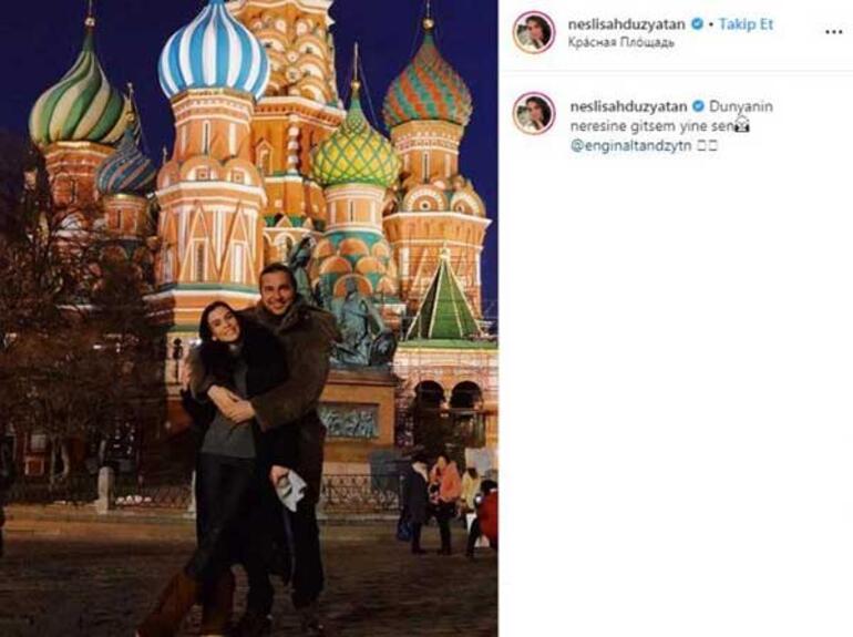 Neslişah Düzyatana Rusyada romantik kutlama