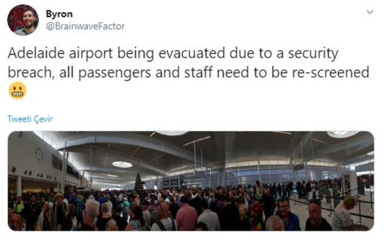 Son dakika... Avustralyadaki Adelaide Havaalanı boşaltıldı