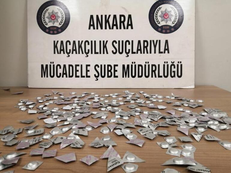Ankarada 300 tane ölüm hapı ele geçirildi