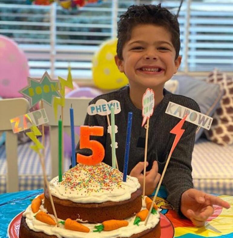 Pelin Karahandan oğluna doğum günü