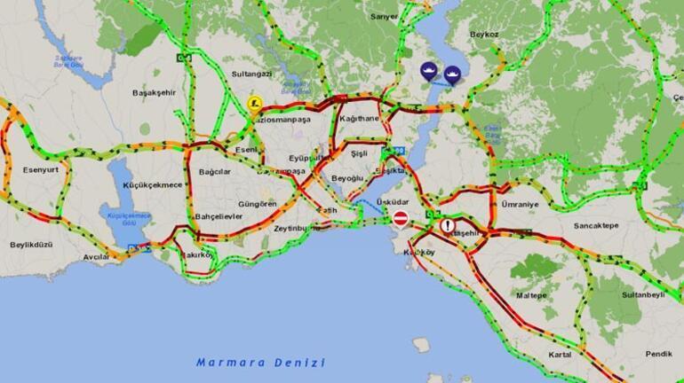 Son dakika... İstanbulu fırtına vurdu Seferler iptal edildi, trafik felç