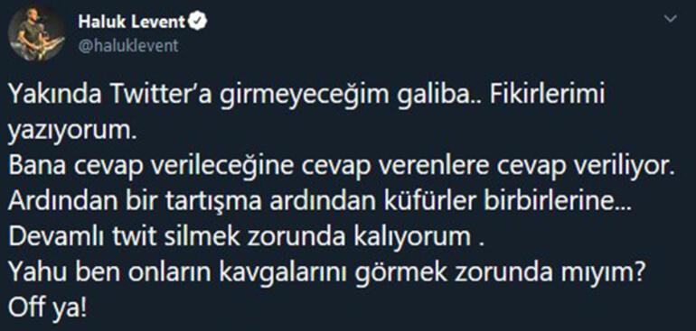 Haluk Leventten şaşırtan karar: Yakında Twitter'a girmeyeceğim galiba