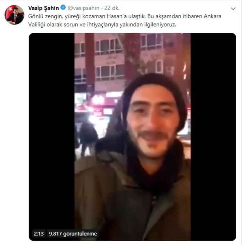 Sokaklarda yaşam mücadelesi veren Hasan için Ankara Valiliği harekete geçti