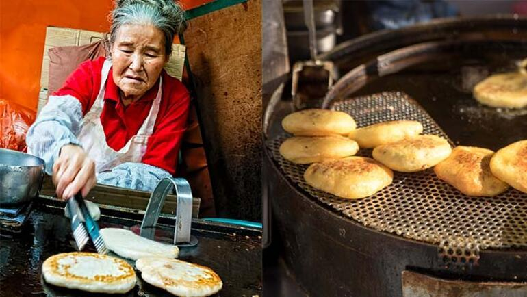 Güney Korenin sokak pankeki: Hotteok (Hodduk)