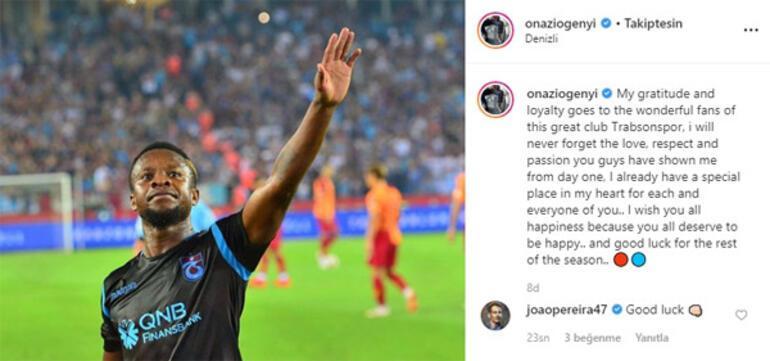 Son dakika | Trabzonspor, Onazinin sözleşmesini feshettiğini KAPa bildirdi