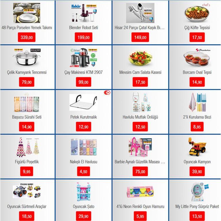 BİMden alışveriş yapmak isteyenler için: Aktüel katalog...