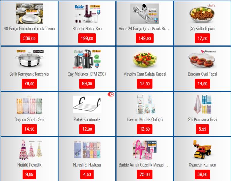 BİM aktüel ürünler kataloğunda bu hafta neler var 17 Ocak BİM indirimli ürünler kataloğu