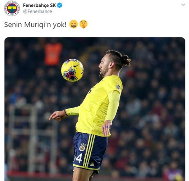 Demba Badan Vedat Muriqi göndermesi Fenerbahçeden paylaşım geldi