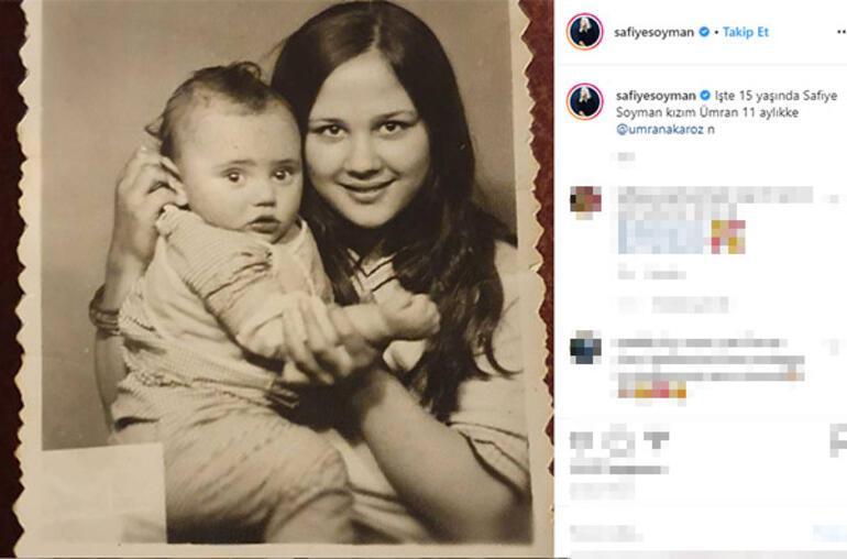 14 yaşında anne olan Safiye Soyman'dan 44 yıllık nostalji