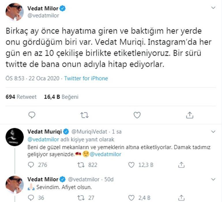 Vedat Milor ile Vedat Muriç arasında olay diyalog