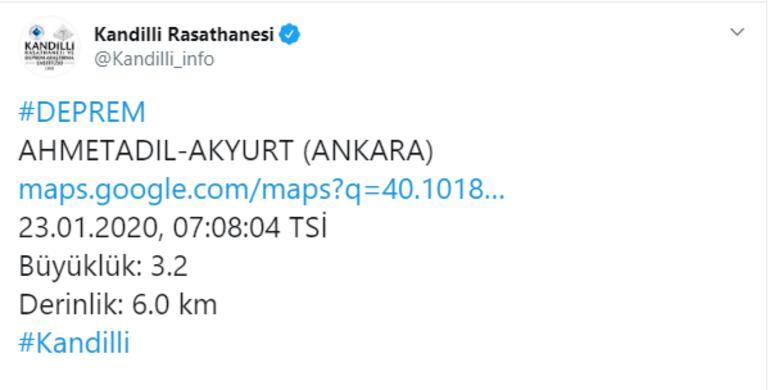 Son dakika Ankarada peş peşe depremler Depremlerin şiddeti...