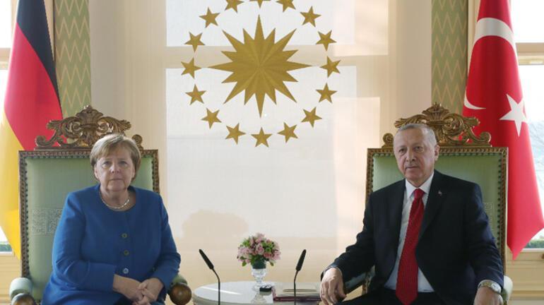 Son dakika... Cumhurbaşkanı Erdoğan ile Merkel arasında önemli görüşme