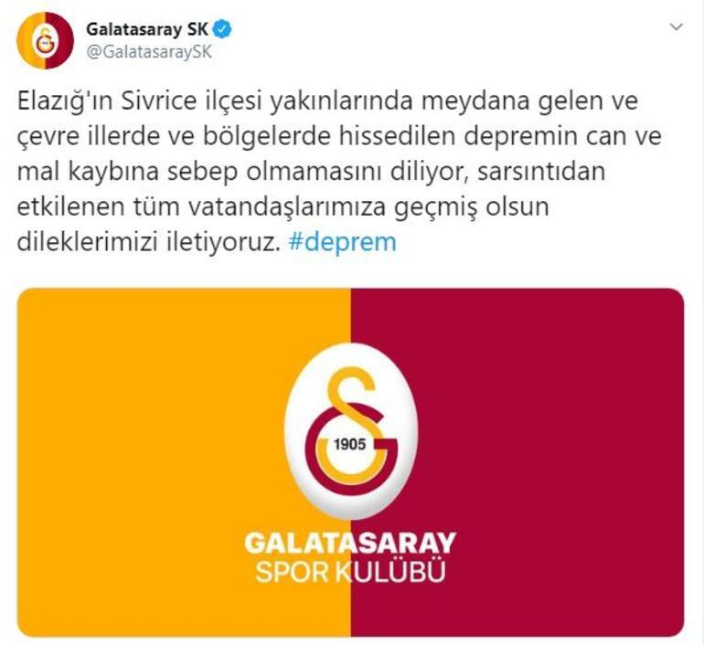 Mert Hakan Yandaş: Sivas'ta depremi şiddetli hissettik | Kulüplerden deprem mesajı