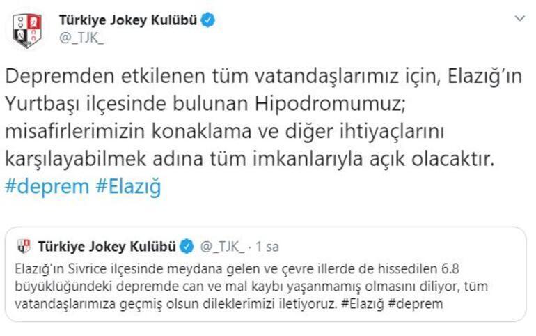 Türkiye Jokey Kulübü açıkladı  Deprem sonrası hipodromu açtı...