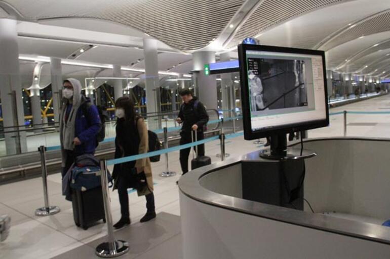 İstanbul Havalimanında termal kameralı önlem devam ediyor