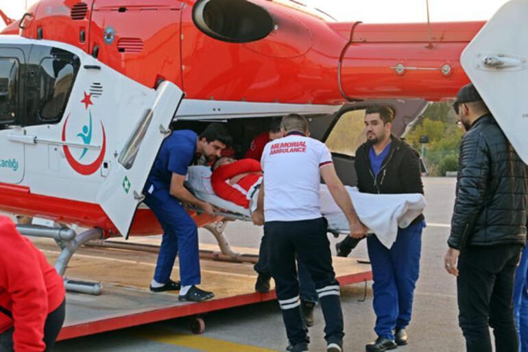 Antalyasporda Jahovic ambulans helikopterle Antalyaya getirildi