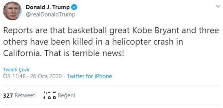 Son dakika | Kobenin ölümü sonrası Donald Trumptan ilk açıklama