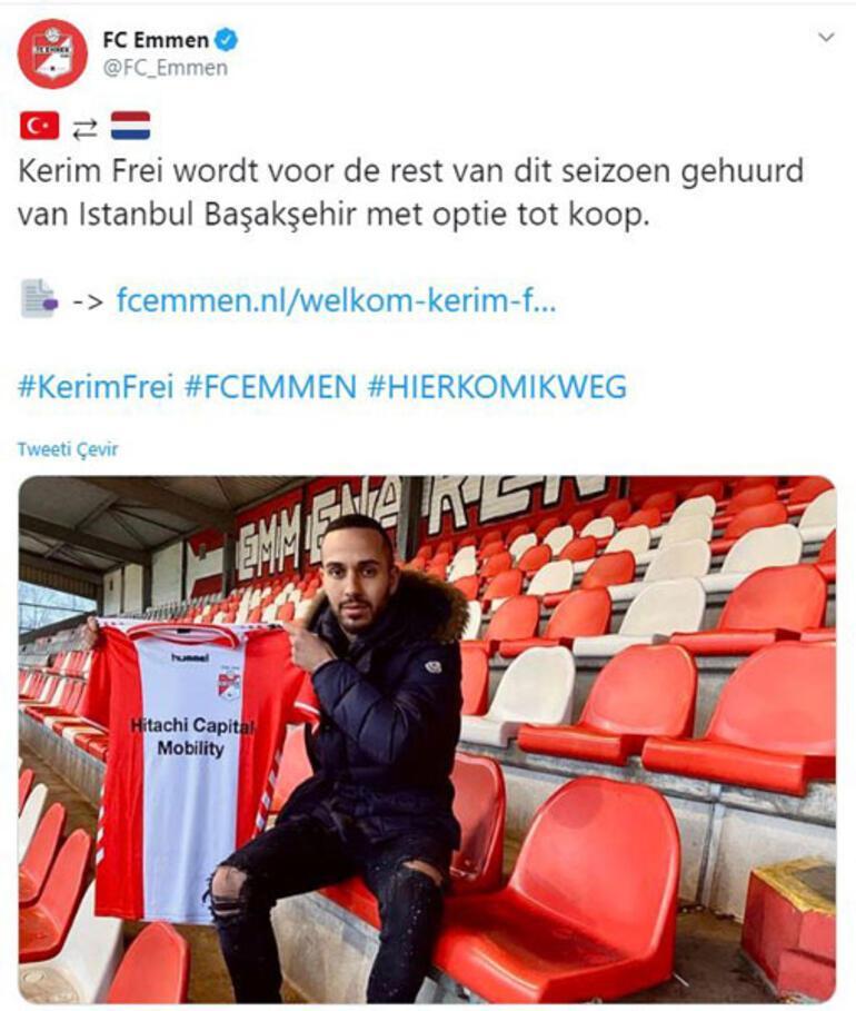 Son dakika | Başakşehirde Kerim Frei ayrılığı FC Emmen kiraladı...